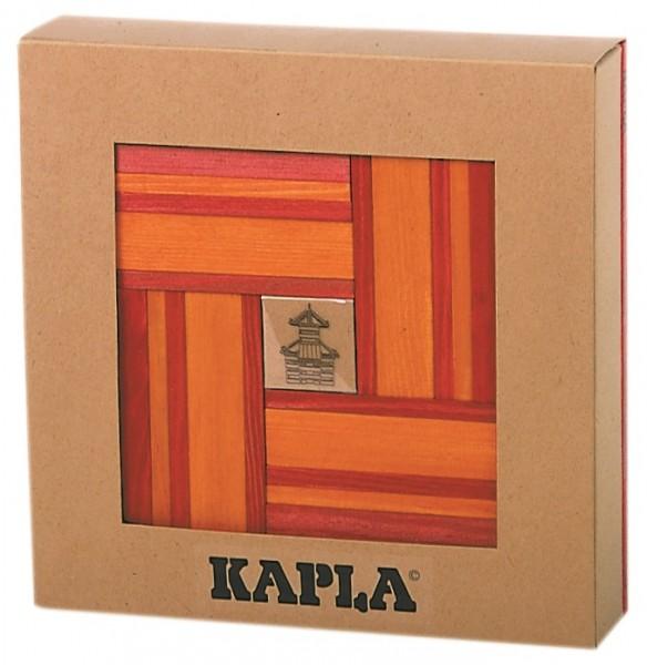 Kapla Farbe 40er Box + Kunstbuch (rot/orange)
